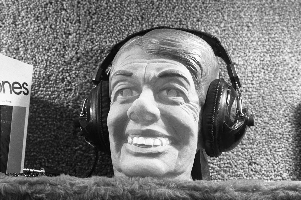Innovations in headphones were on display in 1980 at the Consumer Electronics Show at the Las Vegas Convention Center. (Scott Henry/Las Vegas Review-Journal)
