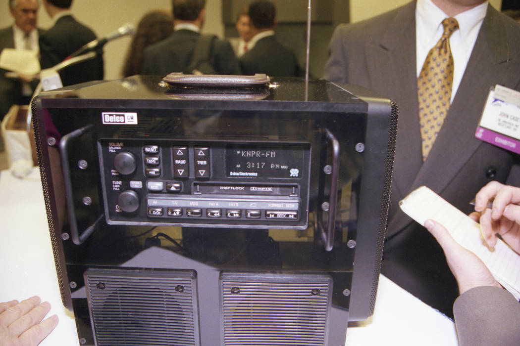 The 1993 Consumer Electronics Show featured demonstrations of the Radio Broadcast Data System. The RBDS System transmits several types of data including call letters of the station tuned to, the s ...