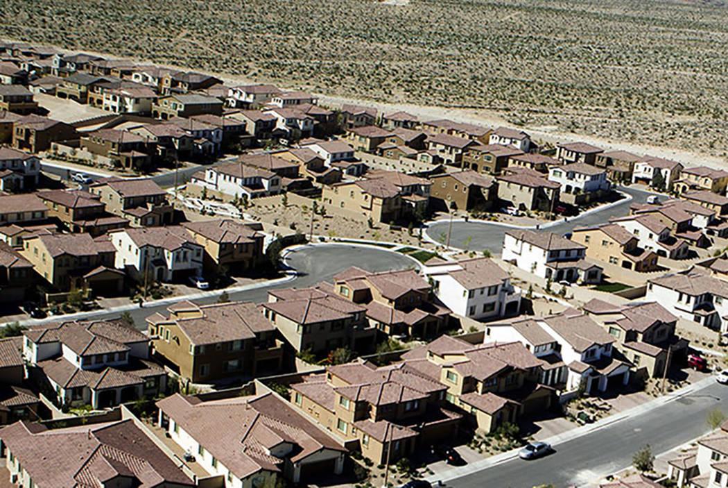 A housing development in Las Vegas. (Las Vegas Review-Journal)