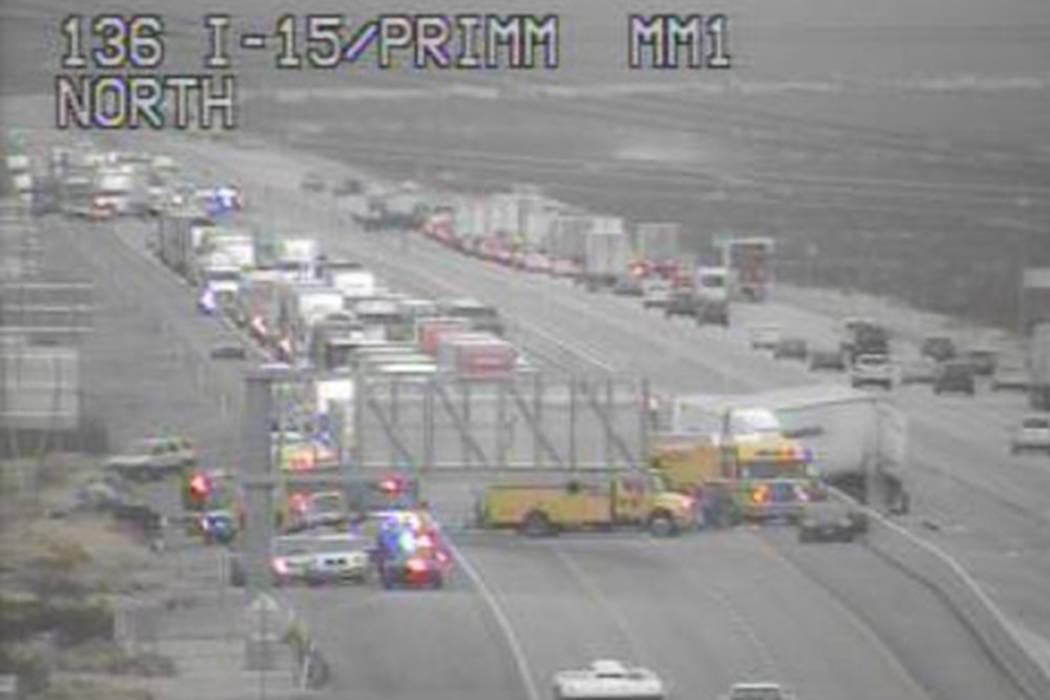 1 critically injured after 9-vehicle crash near Las Vegas | Las