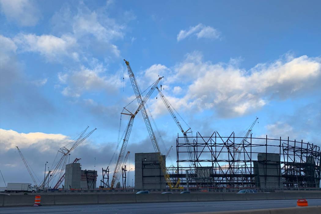 Fog lingers Sunday morning over Las Vegas. January 06, 2019. (Kimber Laux/Review-Journal)