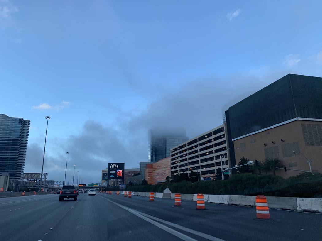 Dry conditions in forecast after fog in Las Vegas Valley