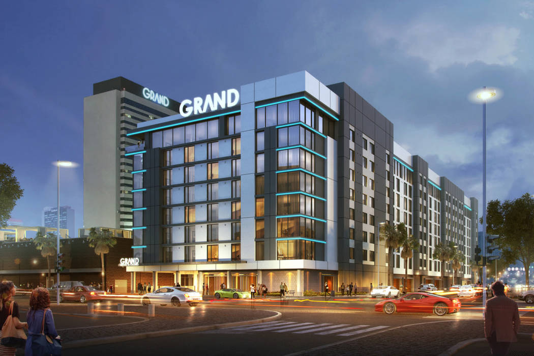 Artist rendering of the new Downtown Grand Hotel & Casino hotel tower. (Downtown Grand Hotel & Casino)