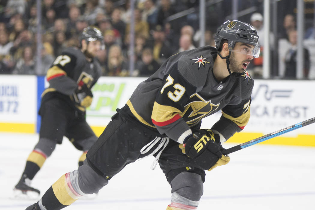 Golden Knights center Brandon Pirri (73) skates up ice in the third period  during a332c326d