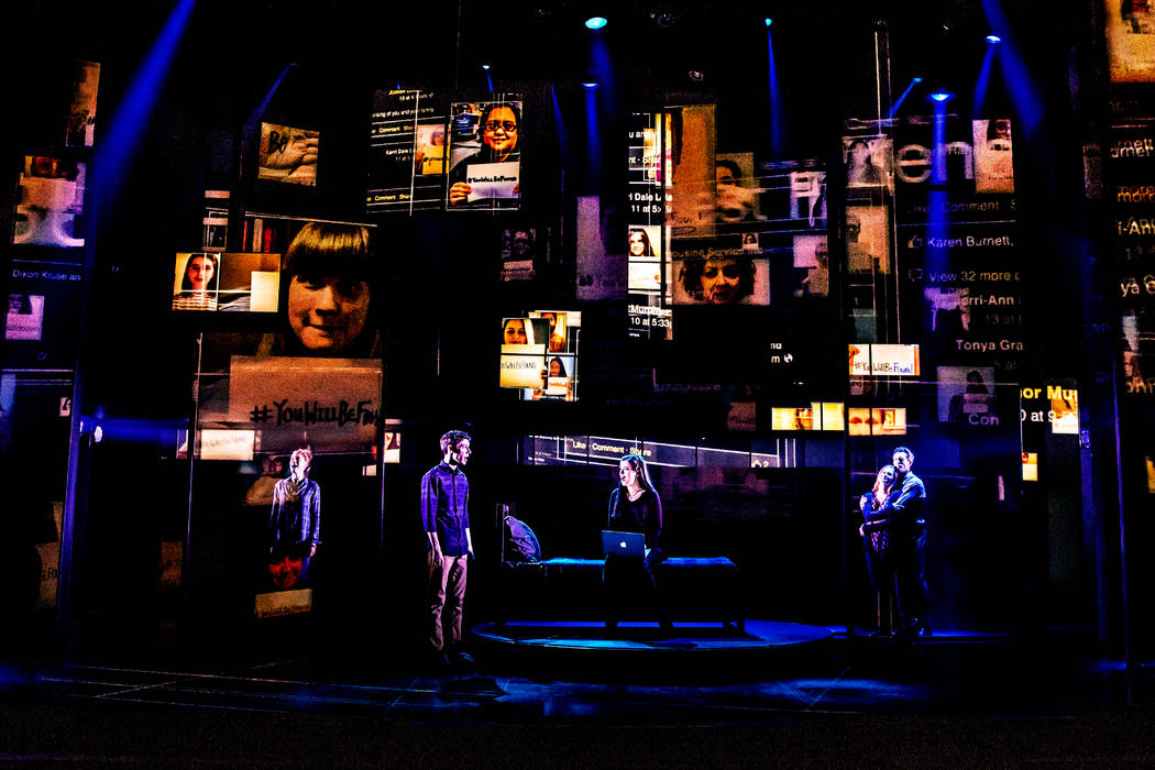 2 - The Company of the First North American Tour of Dear Evan Hansen. Photo by Matthew Murphy. 2018