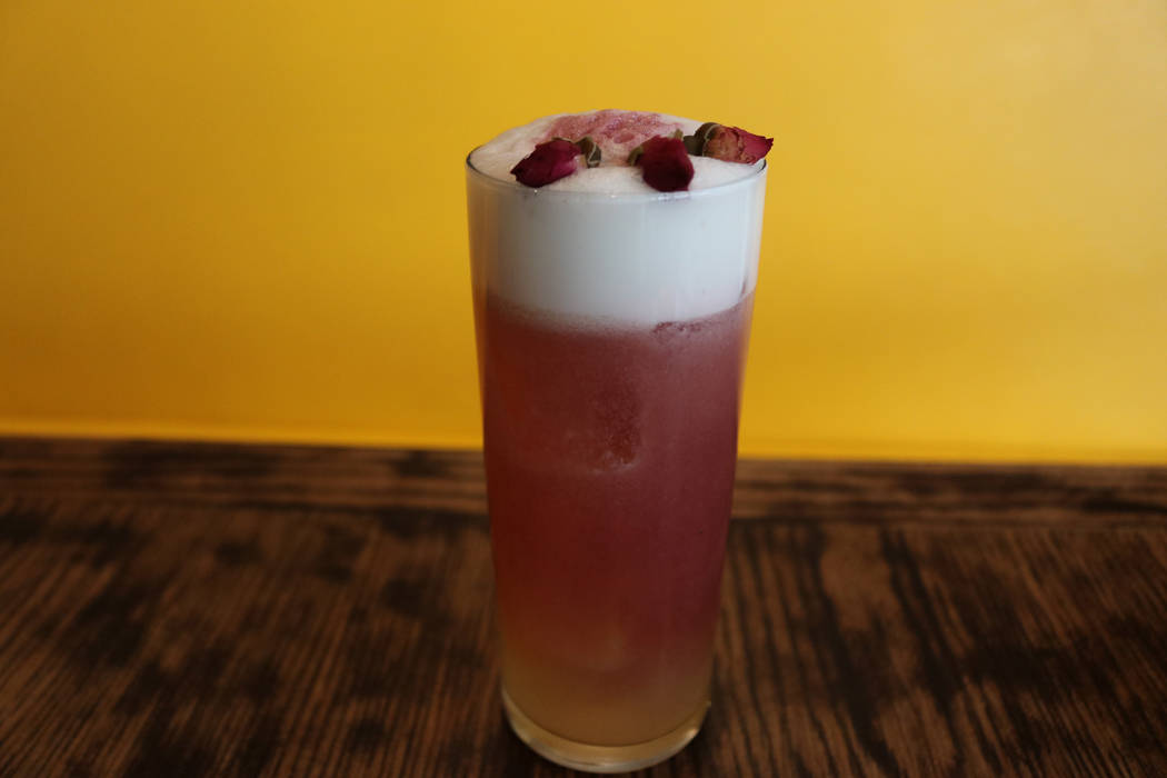 Lipstick and Cigarettes cocktail at Esther's Kitchen (Janna Karel Las Vegas Review-Journal)