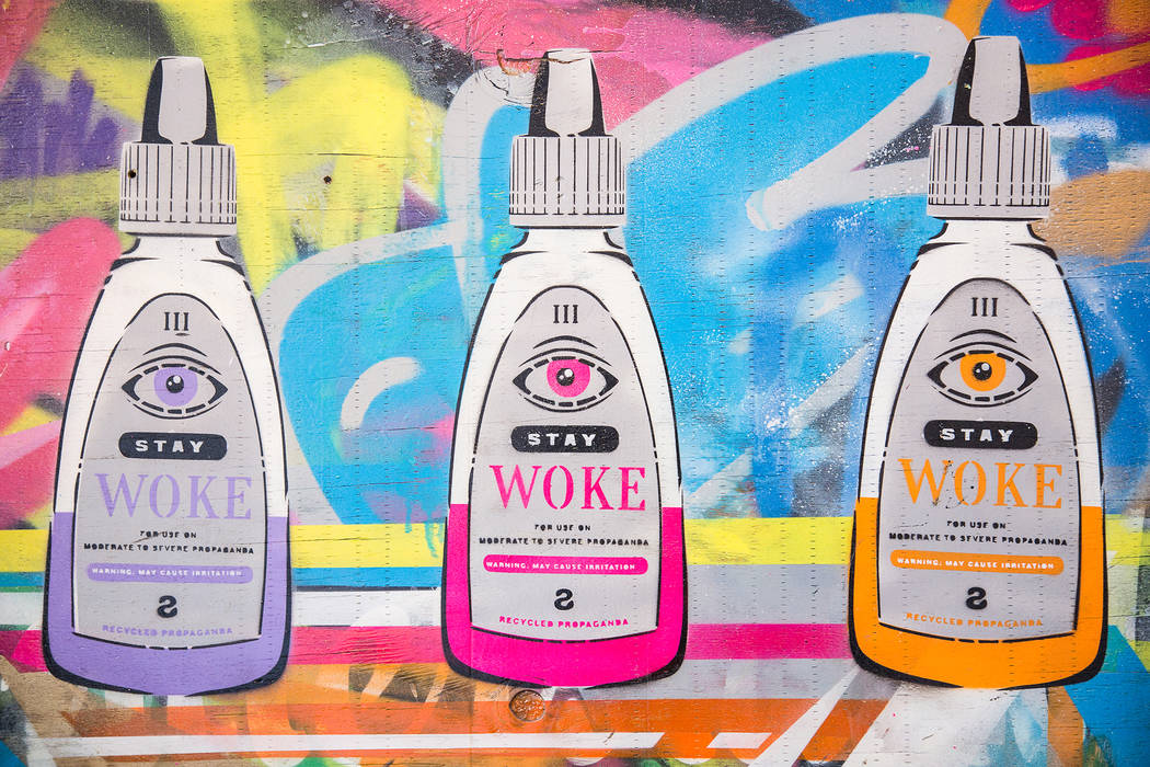 """""""Stay Woke"""" is a play on eye drops and a social activism term,. (Jesse Hudson)"""