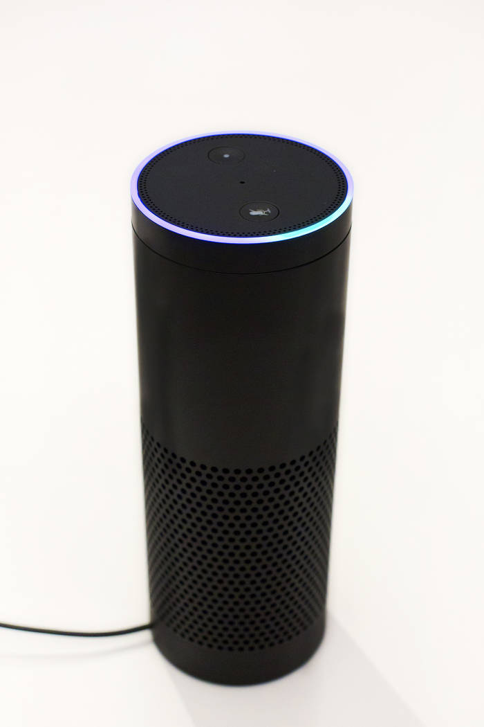 In this June 14, 2018, photo an Amazon Echo is displayed in New York. (AP Photo/Mark Lennihan)