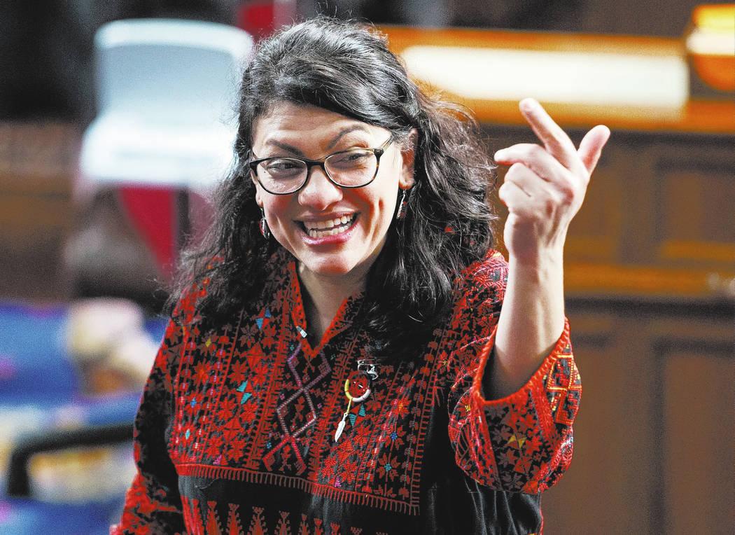 Rep. Rashida Tlaib of Michigan. (AP Photo/Carolyn Kaster)