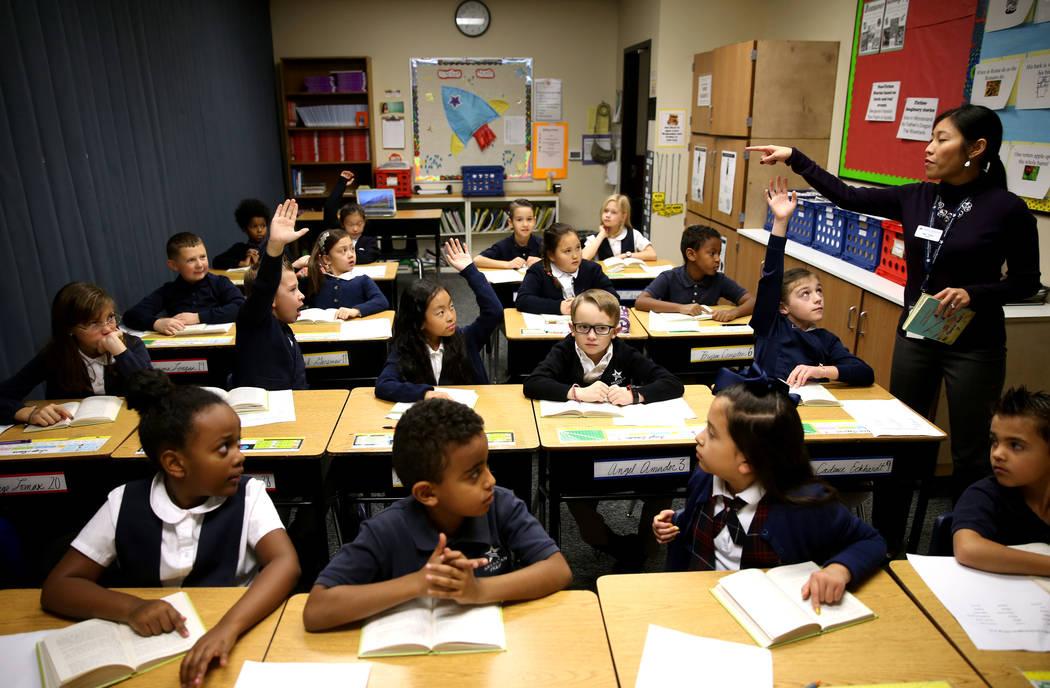Jesa Telfer teaches third grade at American Preparatory Academy charter school in Las Vegas Thursday, Jan. 3, 2019. K.M. Cannon Las Vegas Review-Journal @KMCannonPhoto