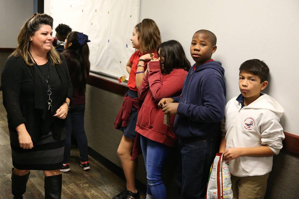 Principal Christine Fitzsimmons gives a tour of Legacy Traditional School in North Las Vegas, on Thursday, Jan. 10, 2019. Erik Verduzco Las Vegas Review-Journal @Erik_Verduzco