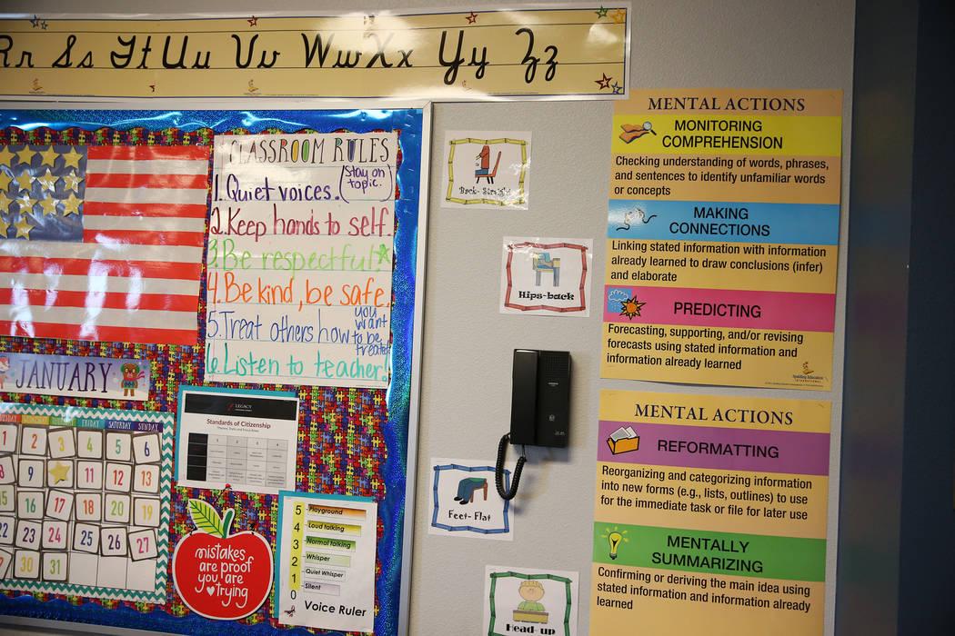 Inside a third grade classroom at Legacy Traditional School in North Las Vegas, on Thursday, Jan. 10, 2019. Erik Verduzco Las Vegas Review-Journal @Erik_Verduzco