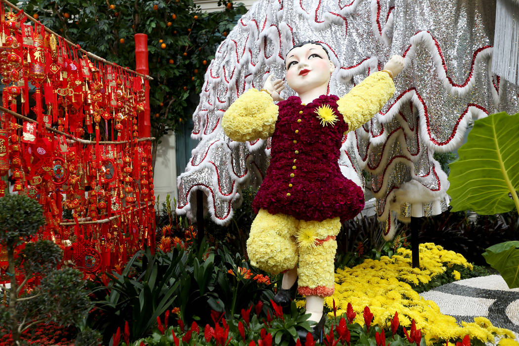 A child statue at the Chinese New Year Year of the Pig display at the Bellagio Conservatory at the Bellagio in Las Vegas, Monday, Jan. 14, 2019. Rachel Aston Las Vegas Review-Journal @rookie__rae