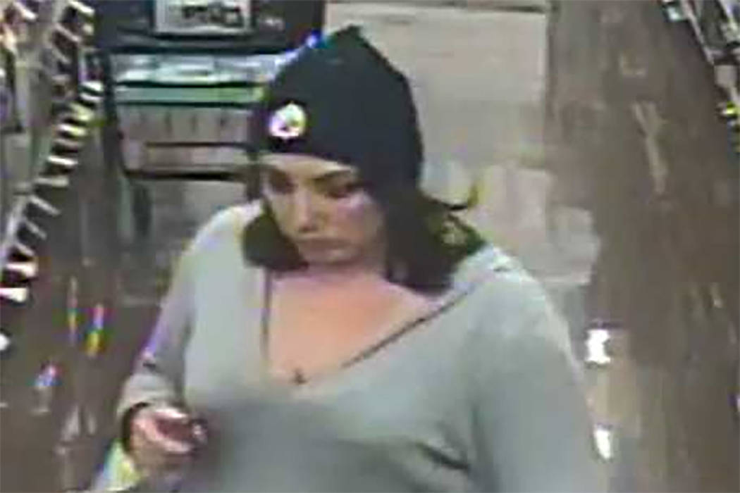 Police are asking for the help identifying a woman who they said stole from a business on Dec. 31 on the 1000 block of North Rainbow Boulevard. (Las Vegas Metropolitan Police Department)