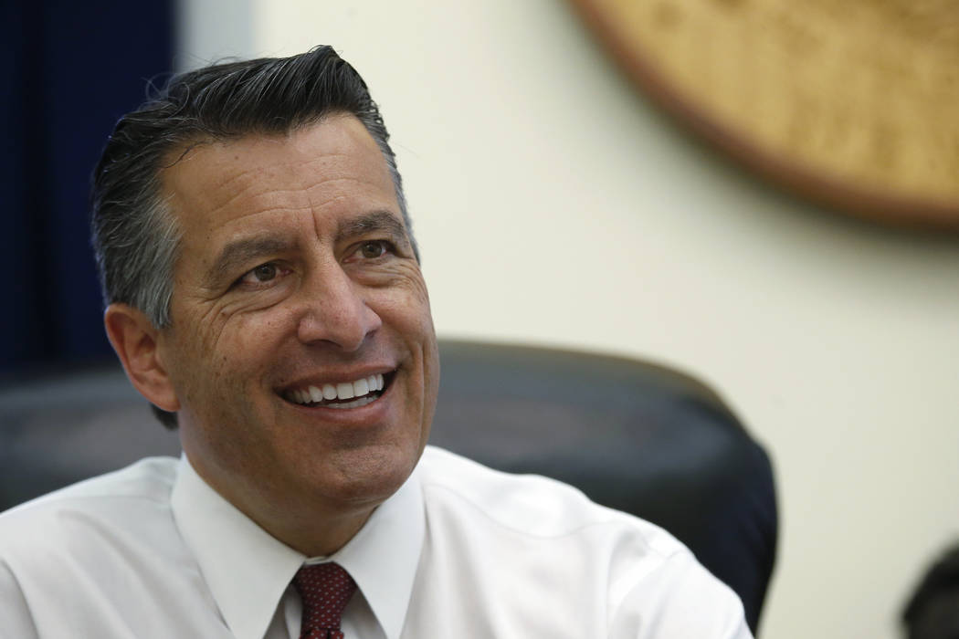 Former Nevada Gov. Brian Sandoval has been named president of global gaming development for MGM Resorts International on Tuesday, Jan. 8, 2019. (Cathleen Allison/Las Vegas Review-Journal)