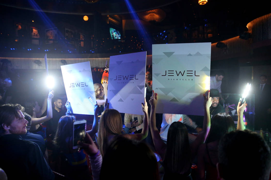 Club-goers and conventioneers at the CES 2019 C Space Party presented by Jewel Nightclub at Aria in Las Vegas Monday, Jan. 7, 2019. K.M. Cannon Las Vegas Review-Journal @KMCannonPhoto