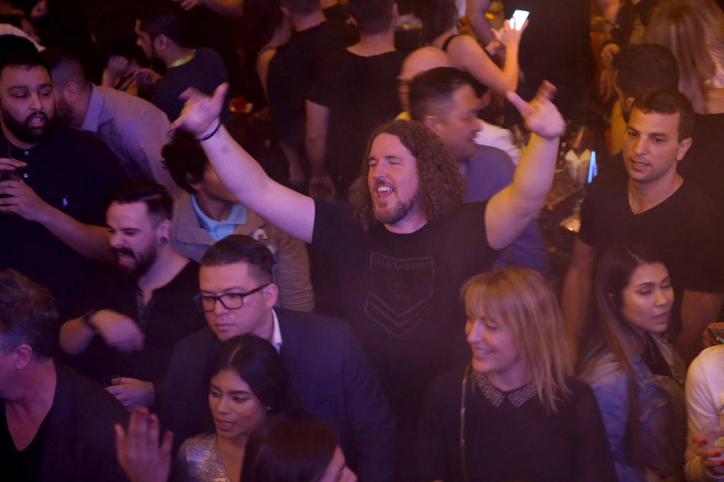 Conventioneer Tyler Slack of Orem, Utah at the CES 2019 C Space Party presented by Jewel Nightclub at Aria in Las Vegas Monday, Jan. 7, 2019. K.M. Cannon Las Vegas Review-Journal @KMCannonPhoto