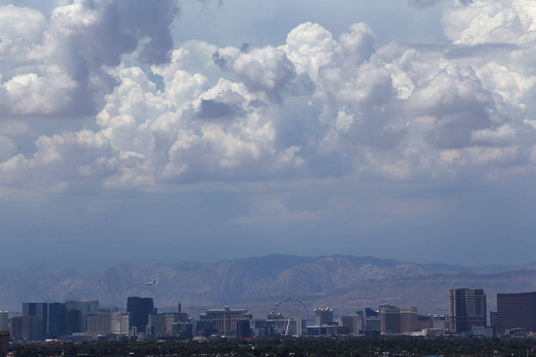 Cloud coverage above the Las Vegas valley on Wednesday, July 11, 2018. Erik Verduzco Las Vegas Review-Journal @Erik_Verduzco