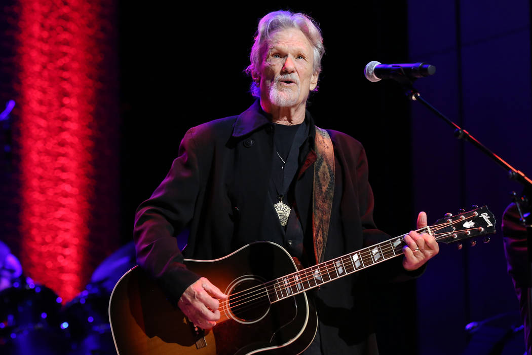Artist Kris Kristofferson performs at the Country Music Hall of Fame Medallion Ceremony at the Country Music Hall of Fame and Museum on Sunday, Oct. 16, 2016 in Nashville, Tenn. (Photo by Laura Ro ...