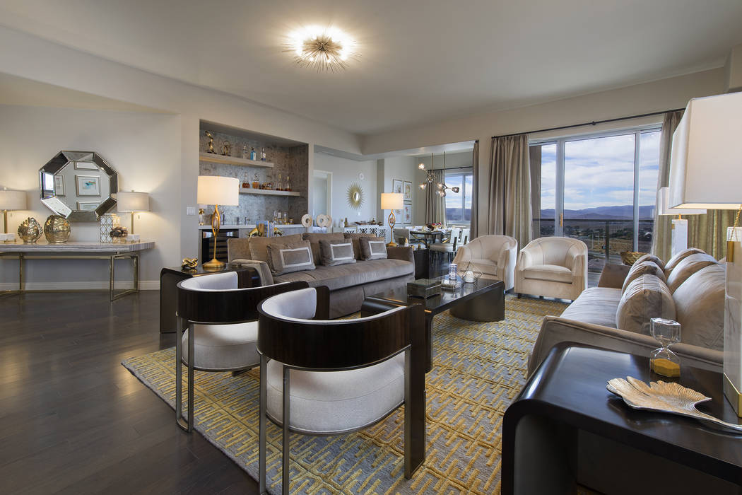 One Las Vegas presents the White Throne Mountain model, the largest floor plan at the luxury high-rise condominium community. (One Las Vegas)