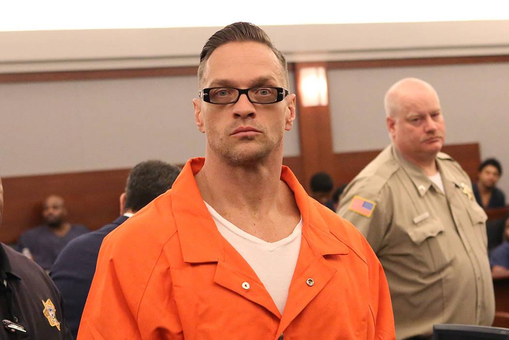 Two-time killer Scott Dozier. (Bizuayehu Tesfaye/Las Vegas Review-Journal)@bizutesfaye
