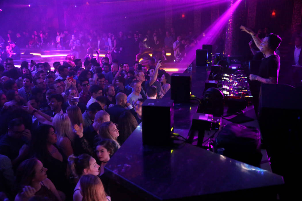 Fergie performs in the main room at Omnia Nightclub at Caesars Palace in Las Vegas at the CES Opening Party early morning Wednesday, Jan. 9, 2019. K.M. Cannon Las Vegas Review-Journal @KMCannonPhoto