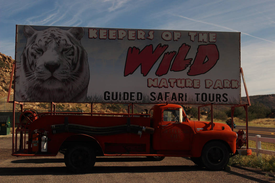 Keepers of the Wild Nature Park is located in Valentine, Arizona, along a scenic stretch of Route 66. (Deborah Wall/Las Vegas Review-Journal)