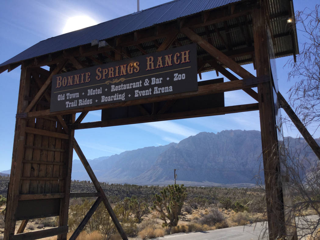 Developer Joel Laub and his attorney and project partner J. Randall Jones plan to buy Bonnie Springs Ranch, seen above on Wednesday, Jan. 9, 2019, west of Las Vegas, and turn it into a custom-home ...