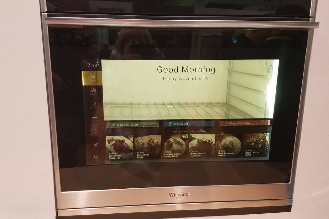 Whirlpool's oven-glass display shows the time and date and provides schedule reminders for every member of the family. It will even tell you when to start dinner and when it will be ready. (Heidi ...