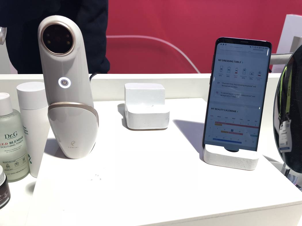 Lumini by Lululabs can diagnose your skin's condition in just ten seconds. (Janna Karel Las Vegas Review-Journal)