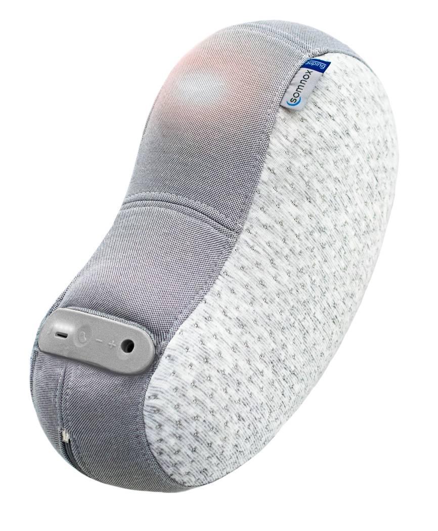 The Somnox Sleep Robot regulates breathing to help soothe you to sleep. Courtesy of Somnox.