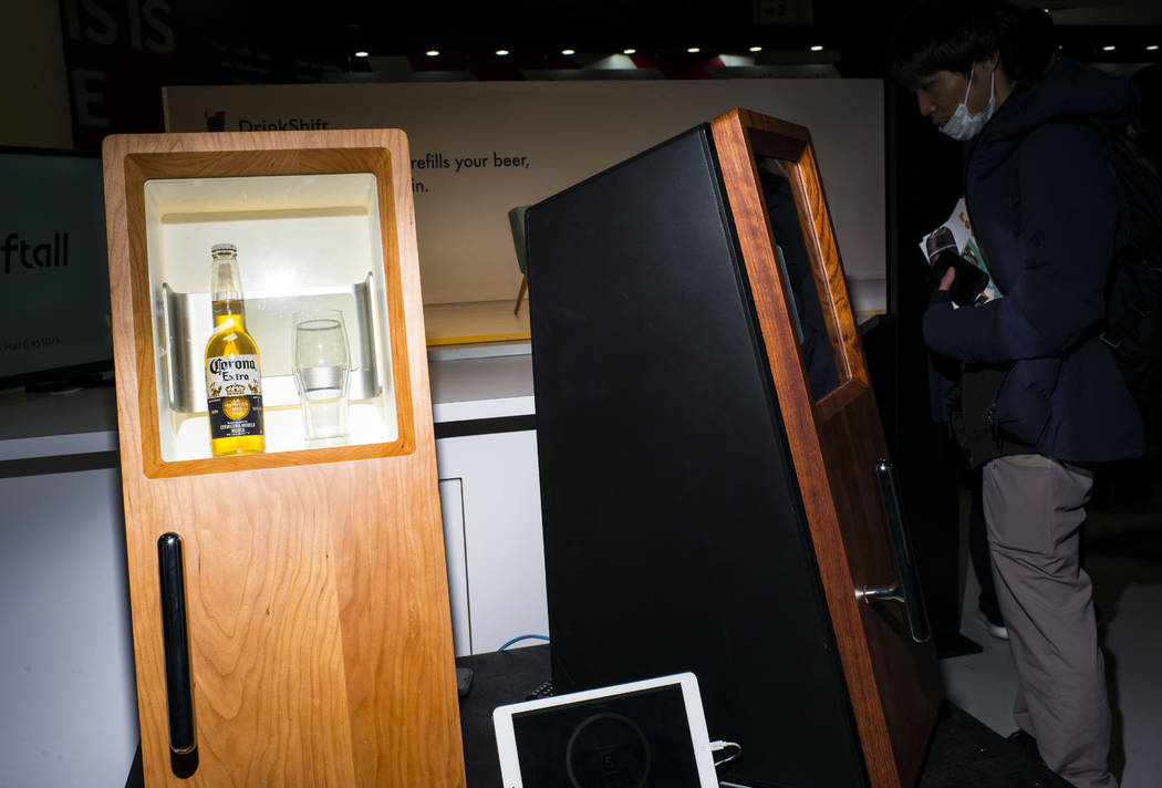 Drinkshift, a smart beer refigerator, at the Sands Expo and Convention Center during CES in Las Vegas on Thursday, Jan. 10, 2019. Chase Stevens Las Vegas Review-Journal @csstevensphoto