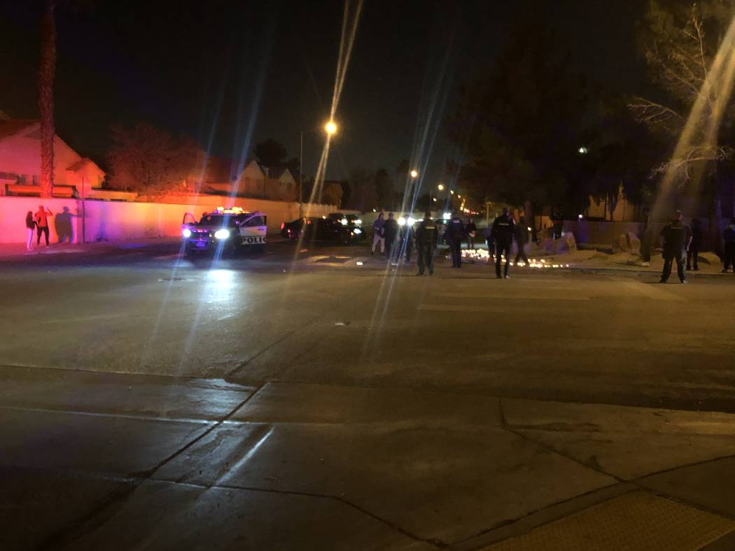 The scene of what was a candle-lit vigil for 16-year-old Aneas King after a fight broke out, causing people to run from the vigil, on Thursday, January 10, 2019. Aneas was fatally shot at the loca ...