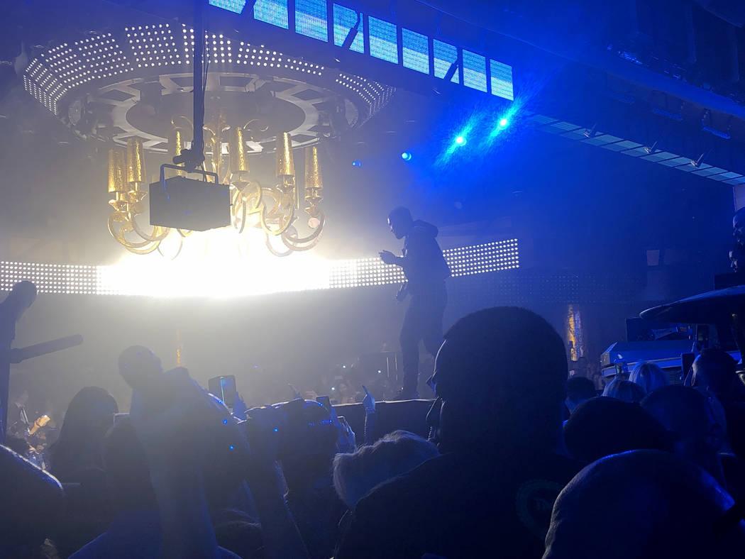 Drake performs for CES attendees and club-goers at XS Nightclub in Encore at Wynn Las Vegas Thursday, Jan. 10, 2019. John Katsilometes Las Vegas Review-Journal