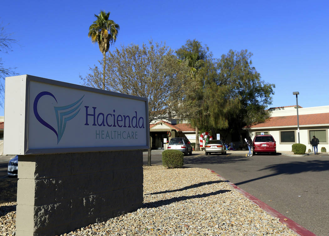 This Friday, Jan. 4, 2019, photo shows Hacienda HealthCare in Phoenix. The revelation that a Phoenix woman in a vegetative state recently gave birth has prompted Hacienda HealthCare CEO Bill Timmo ...