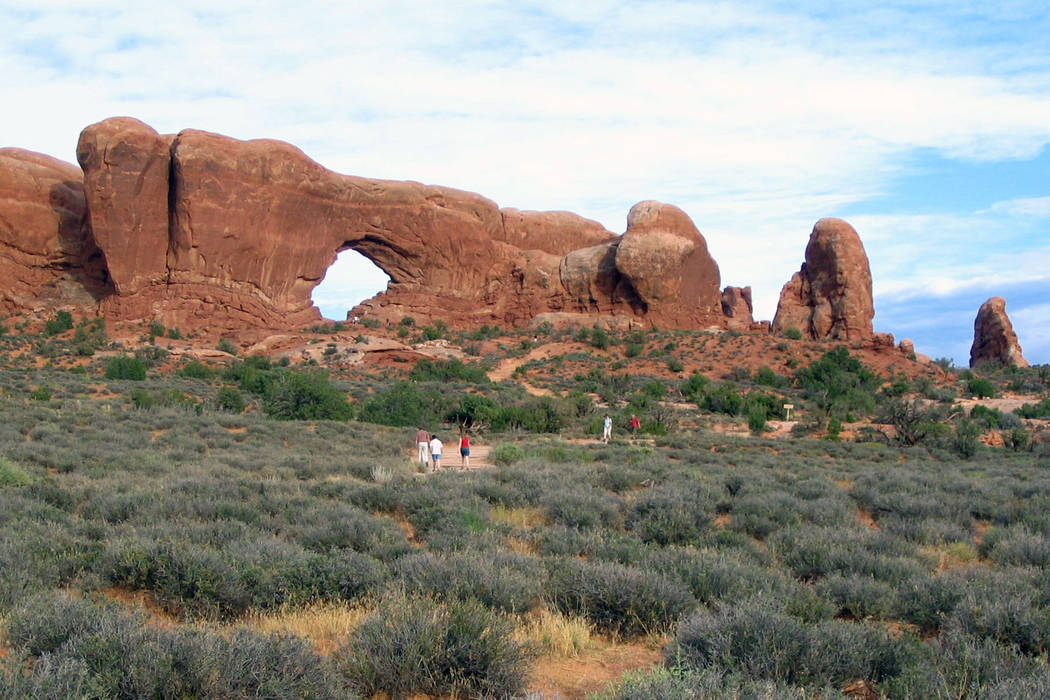The visitors center at Arches National Park in southeast Utah will reopen thanks to Facebook post donations. (Beth Harpaz/AP file)