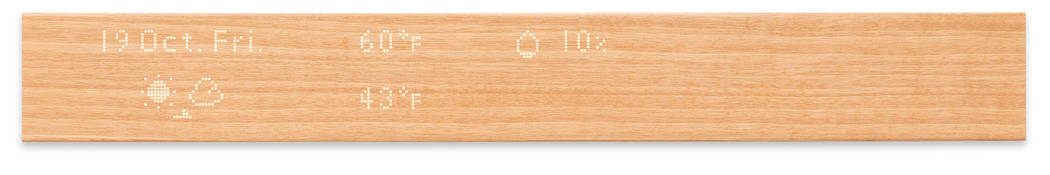 Mui is an internet-connected piece of wood. (Mui)