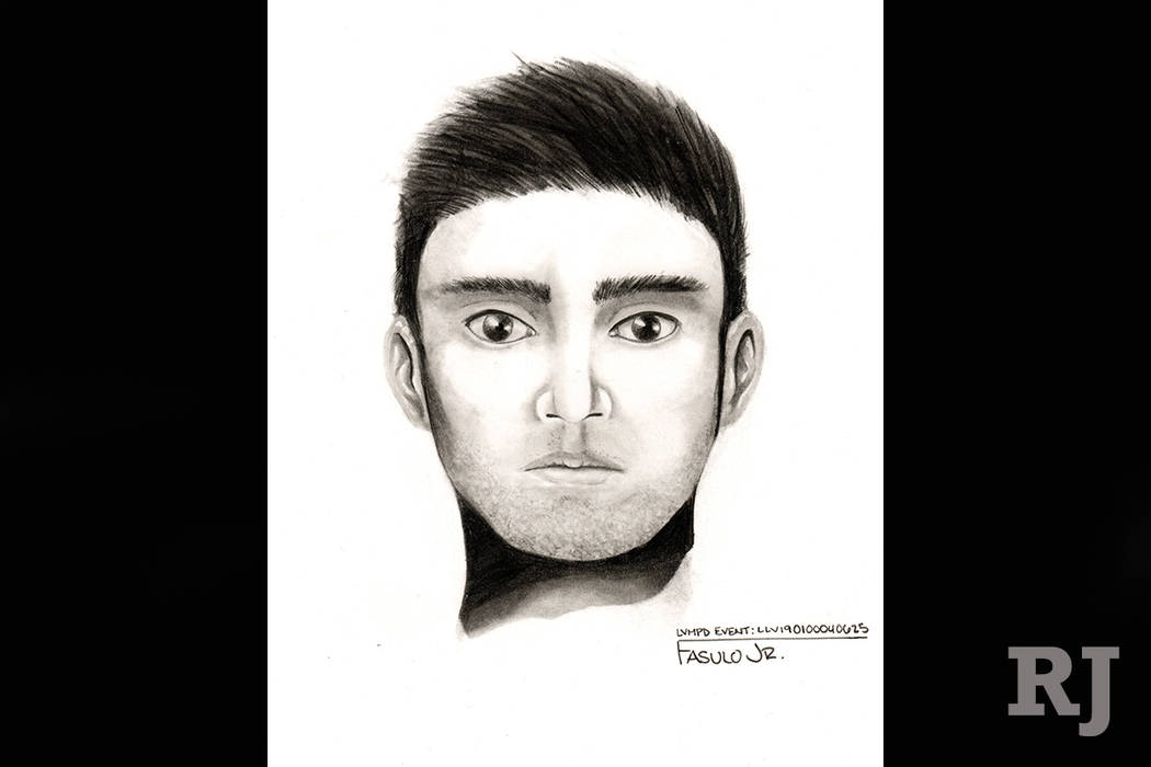 Las Vegas police are asking for help finding a man suspected in a lewdness case involving an 11-year-old who was assaulted while walking to school Wednesday. (Las Vegas Metropolitan Police Department)
