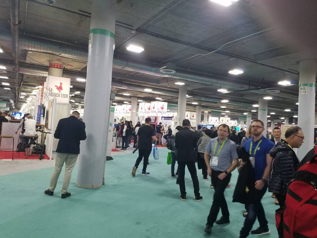 Some of the La French Tech booths at CES. (Heidi Knapp Rinella/Las Vegas Review-Journal)