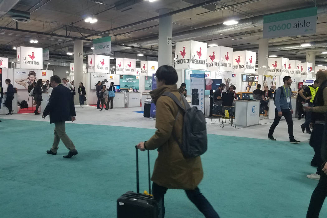 Some of the La French Tech booths at CES (Heidi Knapp Rinella/Las Vegas Review-Journal)