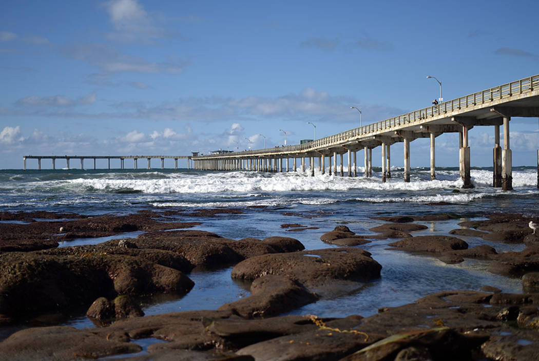 Ocean Beach pier and tide pools in San Diego County (Thinkstock)
