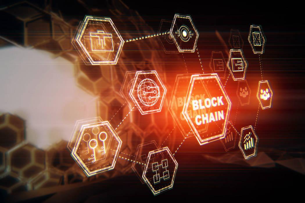 Blockchain hologram (Thinkstock)