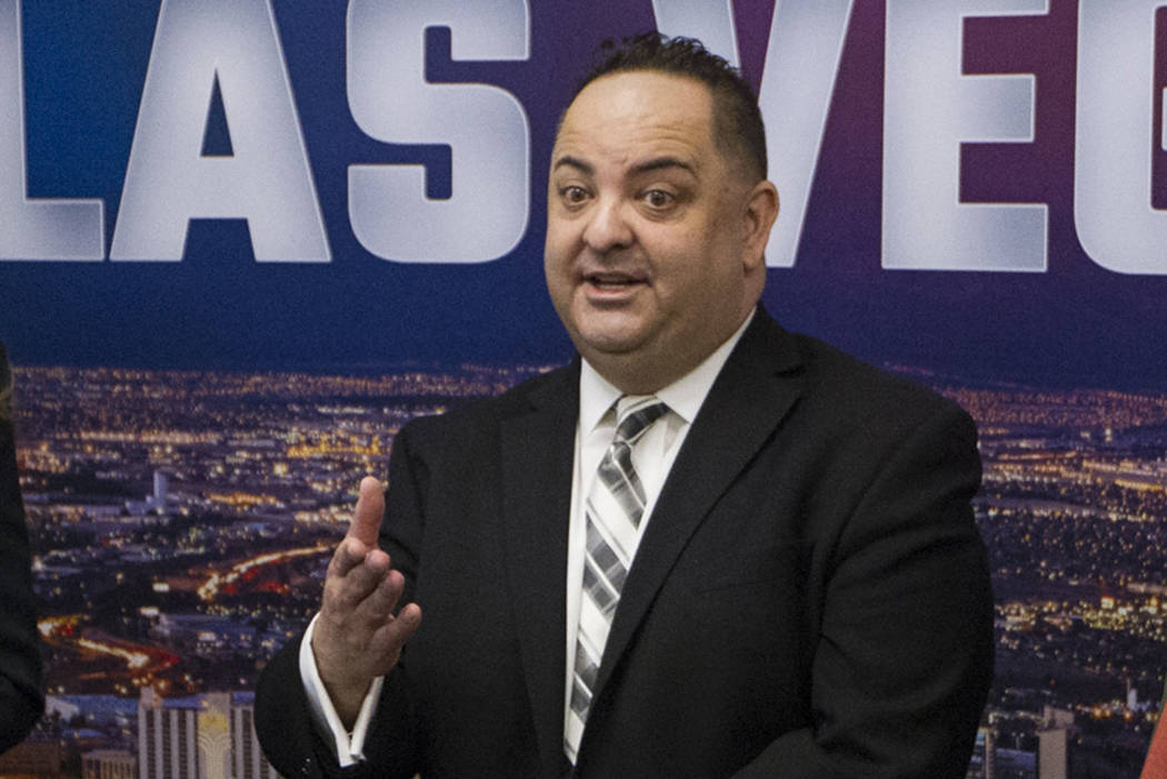 Michael Sherwood, seen in 2018, is the director of innovation and technology for the city of Las Vegas. (Erik Verduzco/Las Vegas Review-Journal)