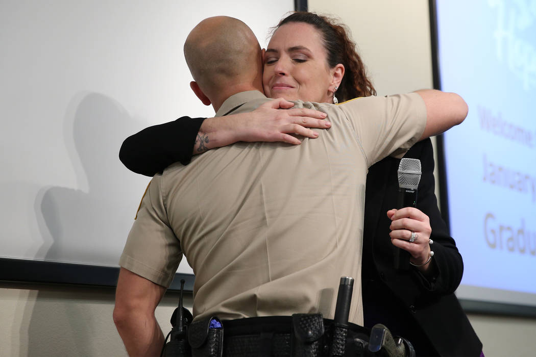 Las Vegas officer, woman reunite at Hope for Prisoners event