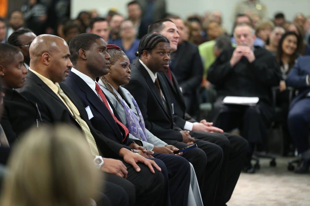 Graduates from Hope For Prisoners attend a celebration at the Las Vegas Metropolitan Police Department headquarters in Las Vegas, Friday, Jan. 11, 2019. Erik Verduzco Las Vegas Review-Journal @Eri ...