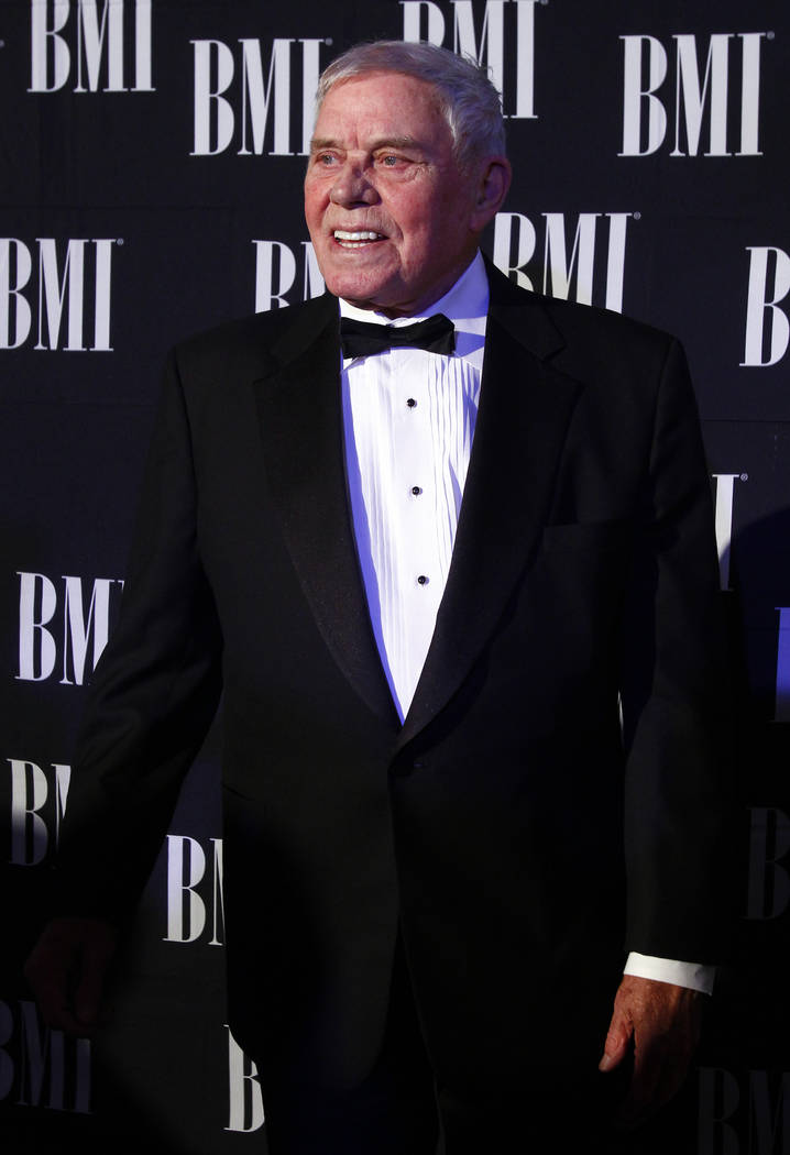 FILE - In this Oct. 30, 2012 file photo, Tom T. Hall arrives at the 60th Annual BMI Country Awards in Nashville, Tenn. Missy Elliott is making history as the first female rapper inducted into the ...
