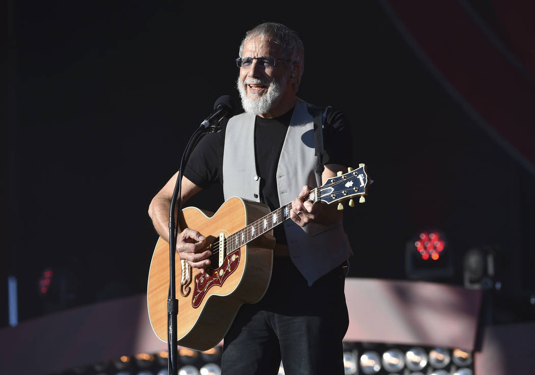 FILE - In this Saturday, Sept. 24, 2016, file photo, musician Yusuf Cat Stevens performs at the 2016 Global Citizen Festival in Central Park in New York. Missy Elliott is making history as the fir ...