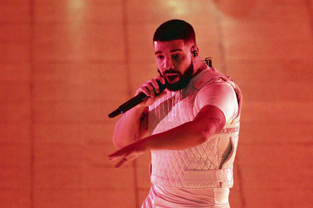 Drake performs during the Aubrey & the Three Migos Tour at State Farm Arena on Friday, November 16, 2018, in Atlanta. (Photo by Robb Cohen/Invision/AP)