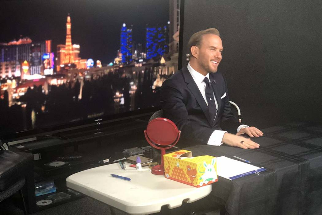 "Matt Goss is shown at CoverEdge Studios in Las Vegas as he is interviewed by Piers Morgan and Susanna Reid via remote link-up on ""Good Morning Britain"" on Sunday, Jan. 13, 2019. (John Katsilometes ..."