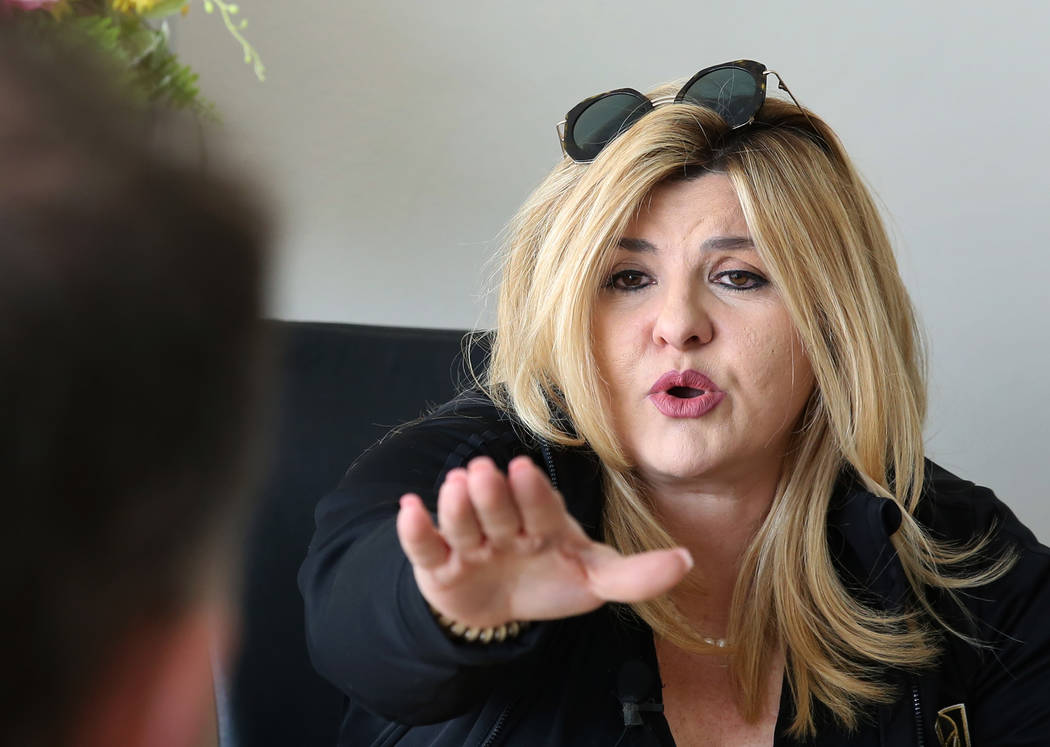 Councilwoman Michele Fiore speaks during an interview with the Las Vegas Review-Journal on Monday, Jan. 21, 2019, in Las Vegas. Bizuayehu Tesfaye/Las Vegas Review-Journal @bizutesfaye